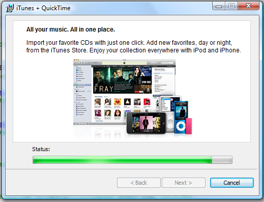 windows vista installing itunes 2