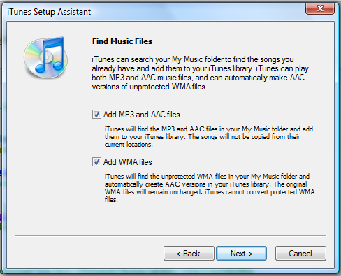 windows vista itunes setup assistant 2