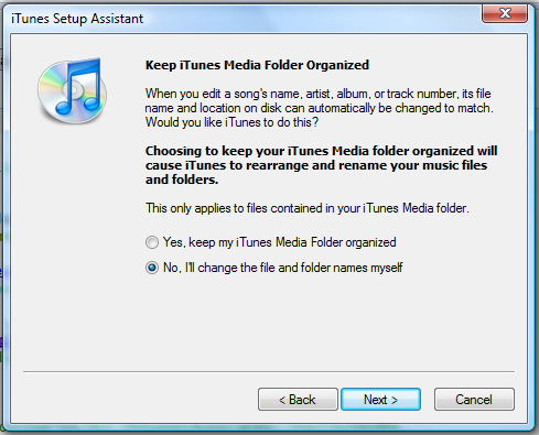 windows vista itunes setup assistant 3