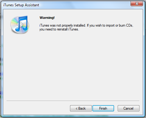 windows vista itunes setup assistant 4