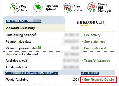 amazon chase rewards credit card redeem 3