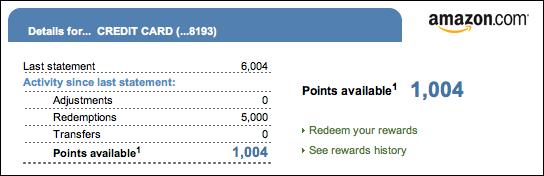 amazon chase rewards credit card redeem 4
