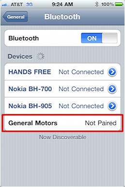 chevy iphone bluetooth pairing 8