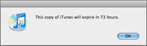 copy itunes expiring expire