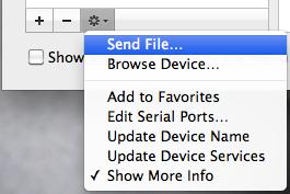 how to send mp3 files via bluetooth