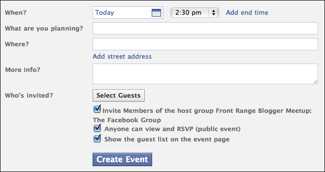 youtube how to create an event on facebook