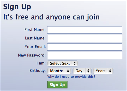 facebook create new account 1