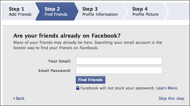 facebook create new account 4