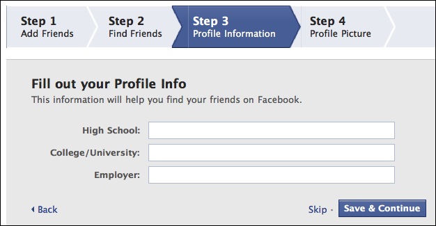 facebook create new account 5