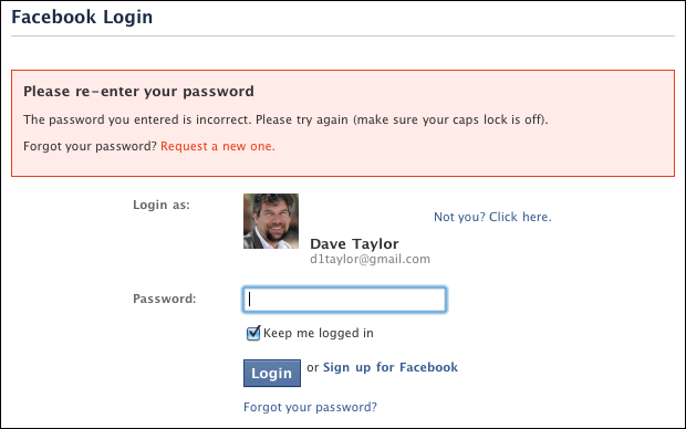 If I Forgot My Password In Facebook