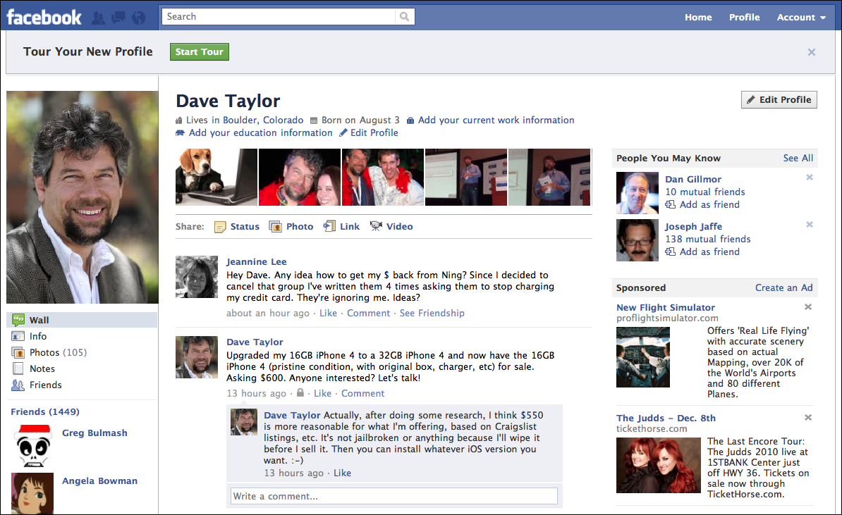 facebook new profile 2