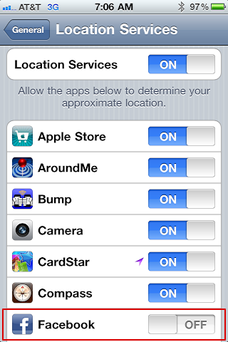 facebook places iphone check in 4