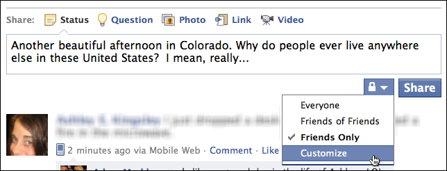 How Can I Limit Facebook Status Updates To Certain Friends Ask