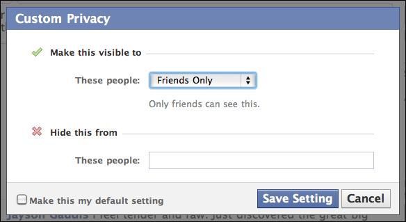 facebook status update friends only 4