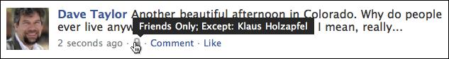 facebook status update friends only 6
