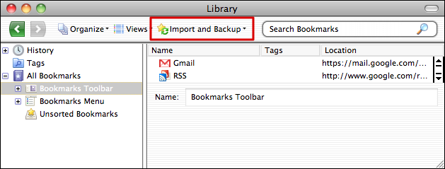 firefox safari bookmarks organize 2