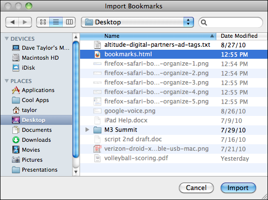 firefox safari bookmarks organize 6