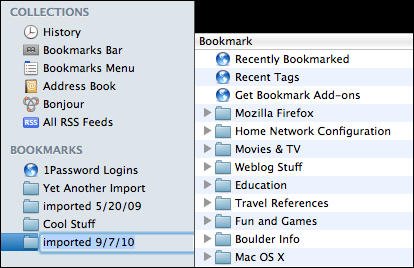 firefox safari bookmarks organize 7
