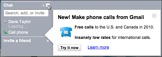 how to make phone call from gmail in india
