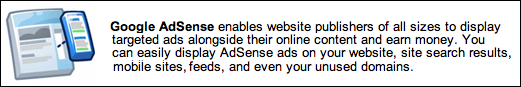 google adsense advert blurb