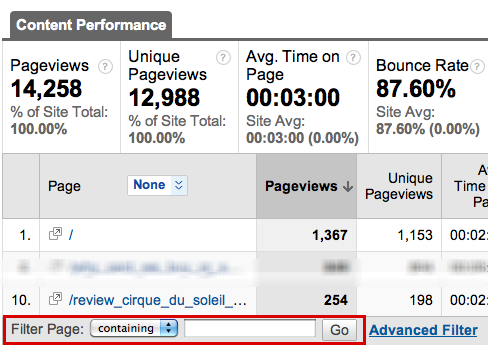 google analytics page traffic 3