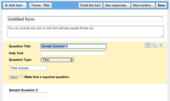 How can I create a form in Google Docs? - Ask Dave Taylor