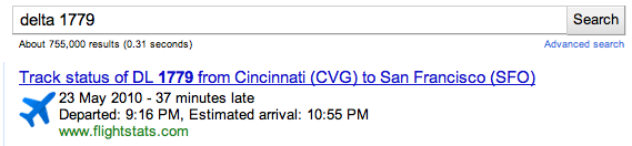 google subscribed links flight info