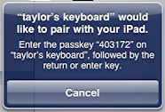 ipad bluetooth keyboard pair passkey