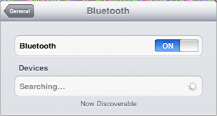 ipad bluetooth searching 2