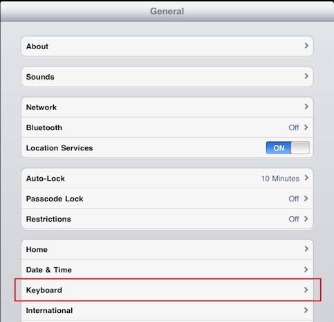 ipad caps lock (shift lock) settings 1