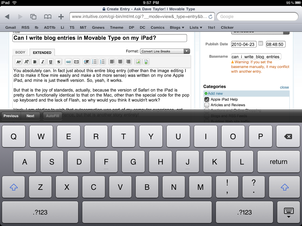 ipad movable type blogging extended entry