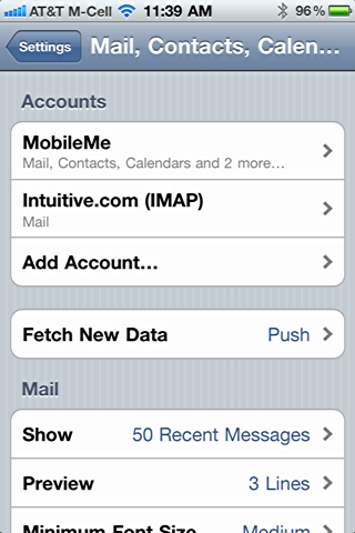 how to set email signature on iphone