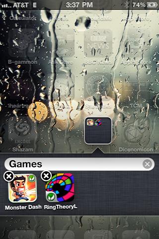 iphone create app folder 3