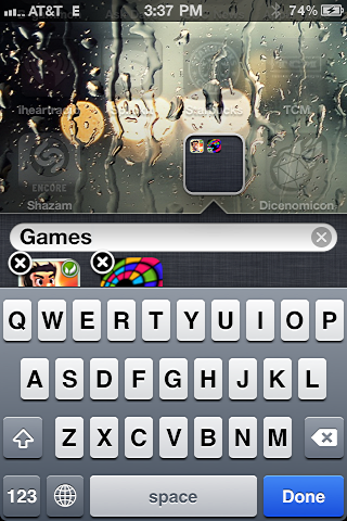 iphone create app folder 4