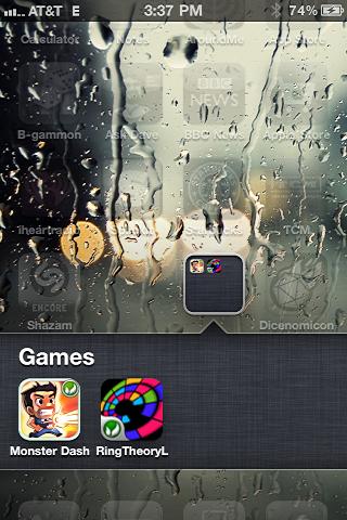 iphone create app folder 5