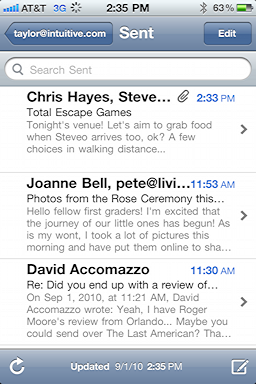 iphone sent mail messages 4