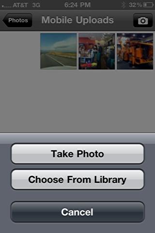 iphone upload photo facebook 5
