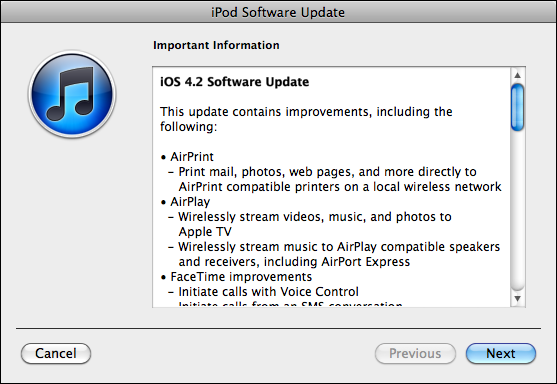 ipod touch update 3