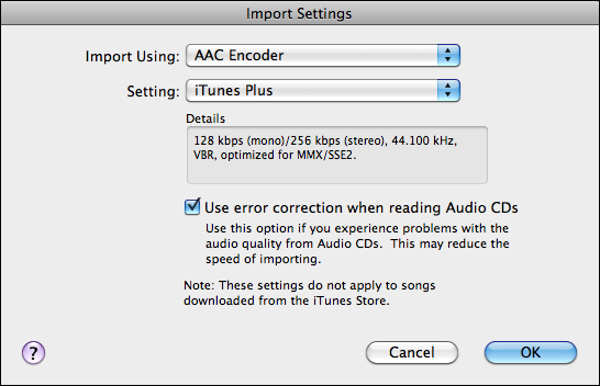 itunes import rip audio cd 2