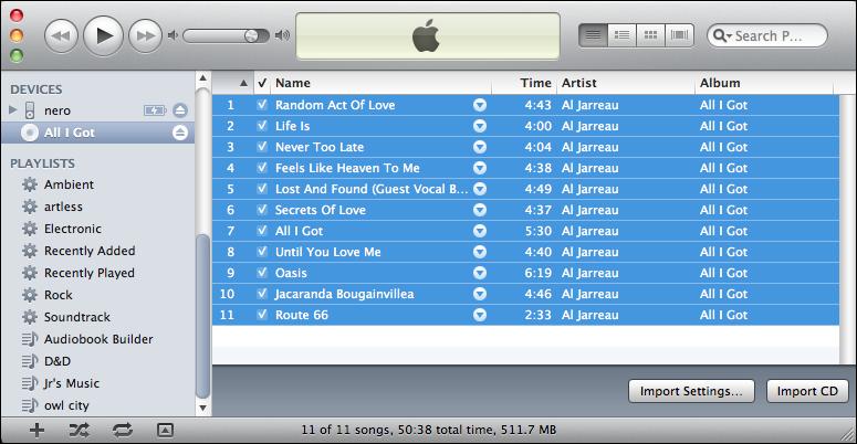 itunes import rip audio cd 5
