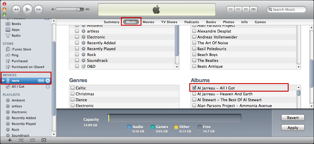 how to download music from itunes to ipod nano