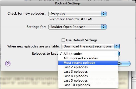 itunes unsubscribe podcast 4