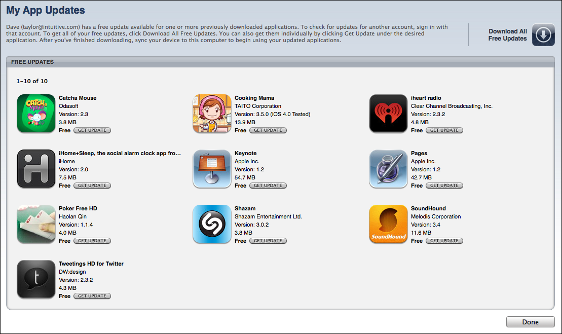 itunes update iphone apps 4