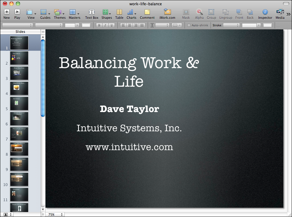 how can i apply a new theme to a keynote presentation ask dave taylor