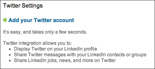 linkedin add twitter account 3