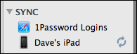 mac 1password sync menu