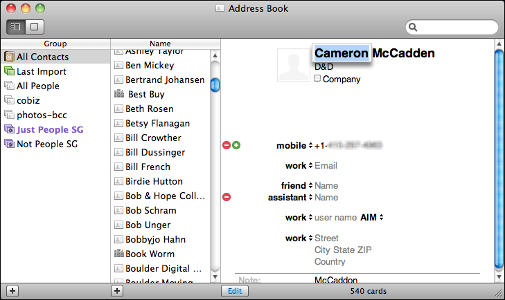 How do I add a birthday to an Address Book entry? - Ask Dave Taylor