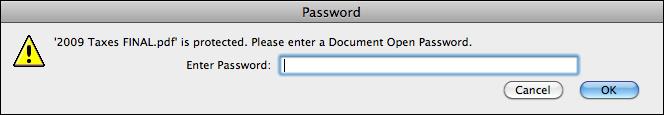 mac adobe reader enter pdf password