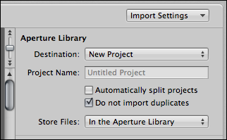 mac aperture import photo settings