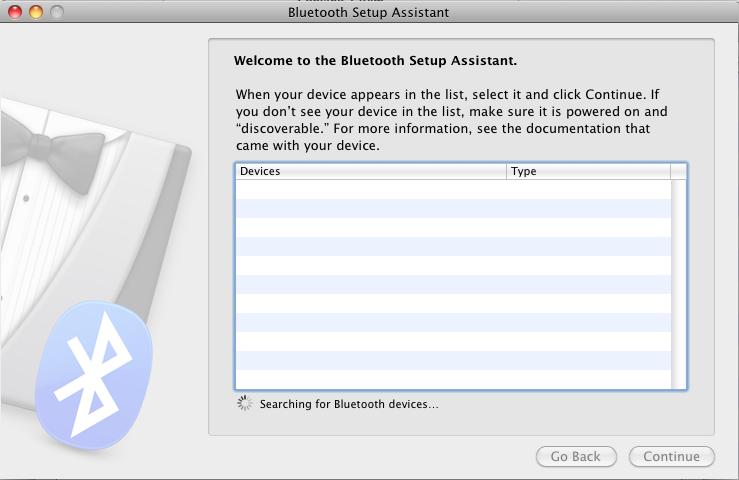 has sat mac mini bluetooth keyboard initial setup device powered